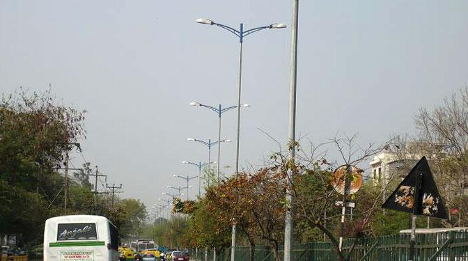 This range of Hot-dip galvanized Octagonal Poles for Street lighting with decorative brackets is know all-over as u201cBajaj Smart Polesu201d . & High-Mast / Street Furniture | Js Corporation